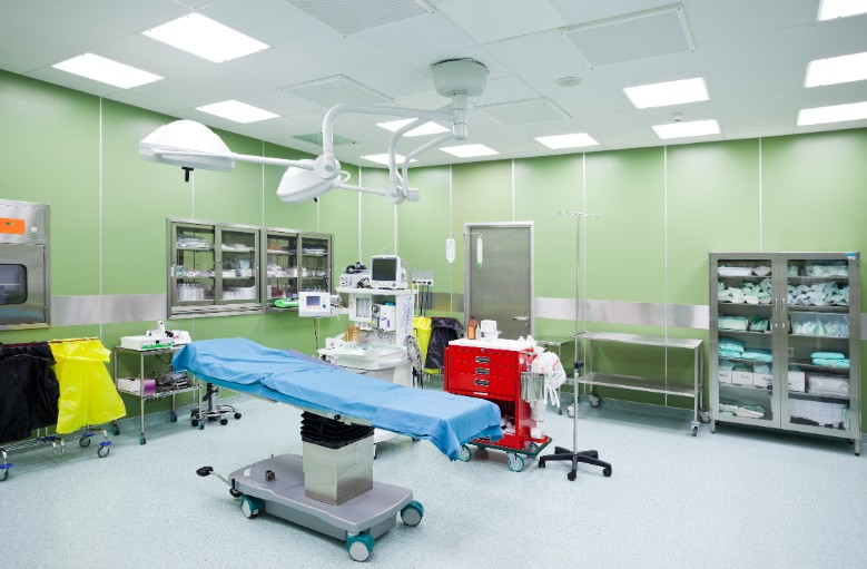 Empty, clean and light operation room in a hospital