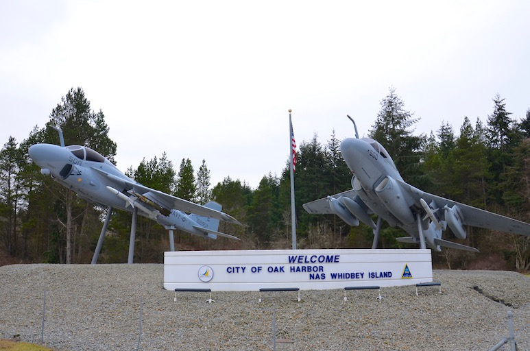 Oak Harbor Naval Air Station Sign copy